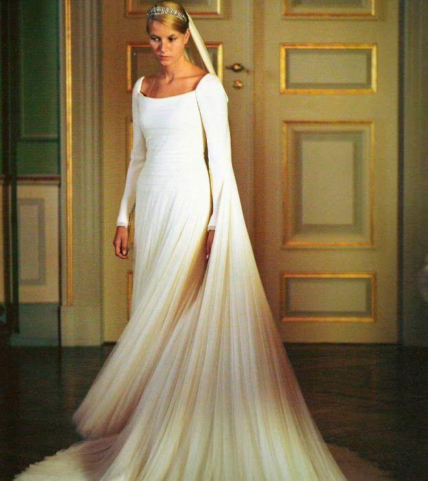 Princess Mette Marit wedding dress ~Norway king wedding