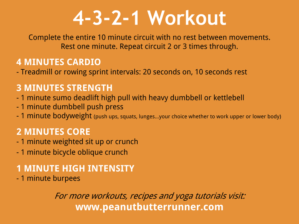 4 3 2 1 Workout Workout Cardio And Exercises