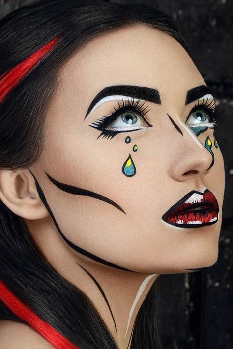 33 Awesomely Spooky Makeup for Halloween #halloween #makeup #scary - halloween makeup ideas easy