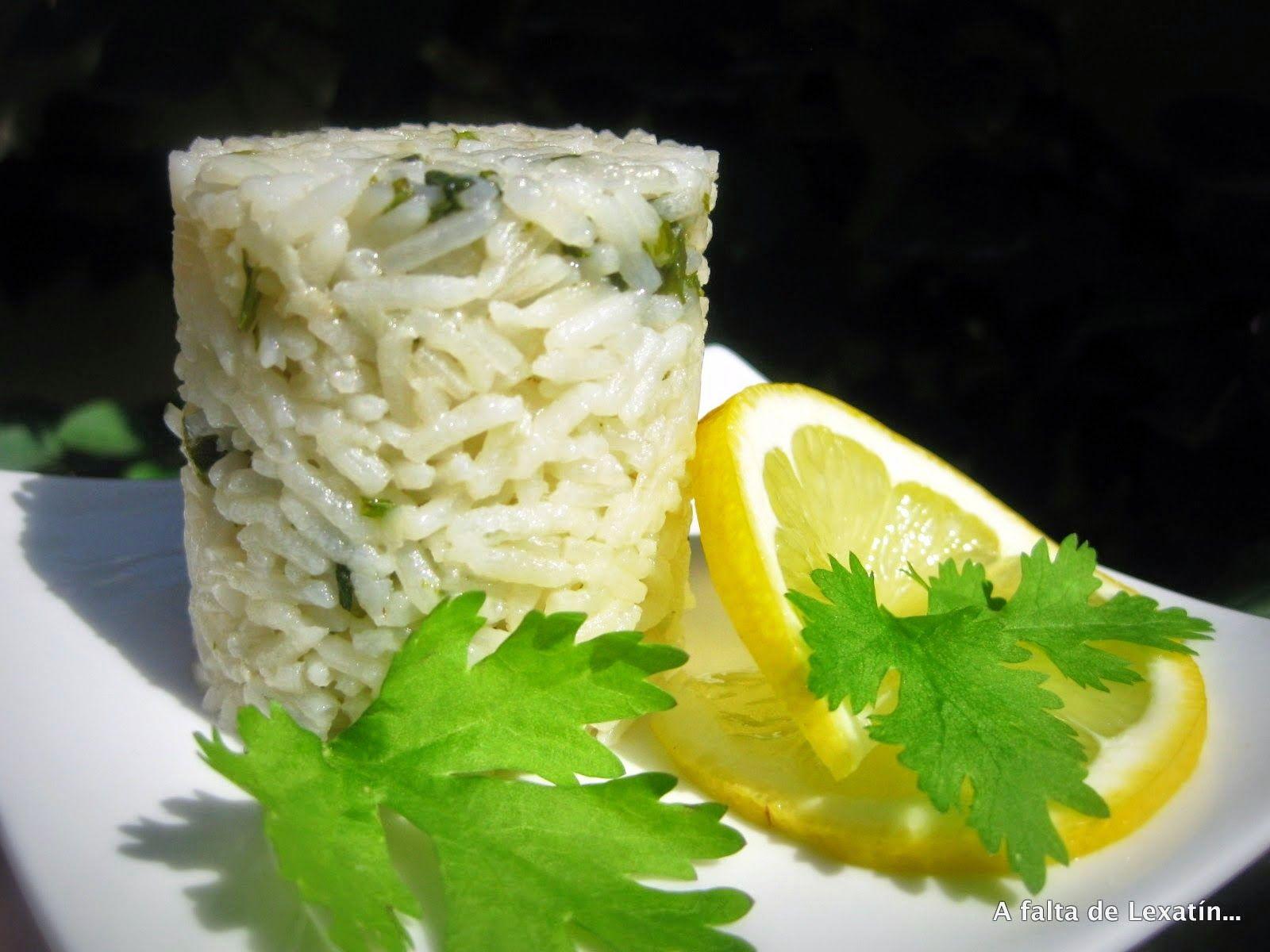 A falta de Lexatín... buenas son tortas: Arroz con cilantro en microondas