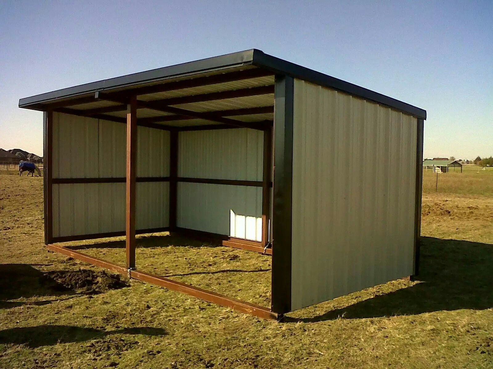 and shelter in shop sheds storage run kits horse shelterlogic shed shade equine corp