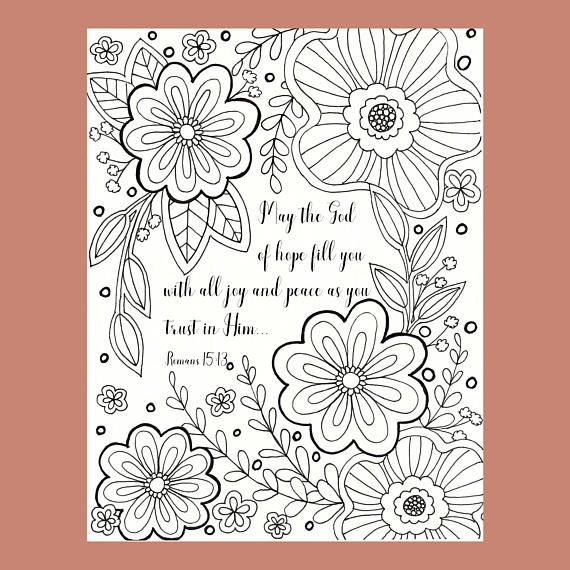 Discover Ideas About Doodle Flowers Bible Verse Coloring Page