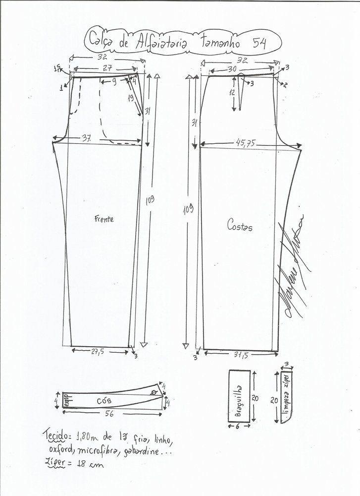Patrón Pantalón de sastre de mujer | Patrón pantalon | Pinterest ...