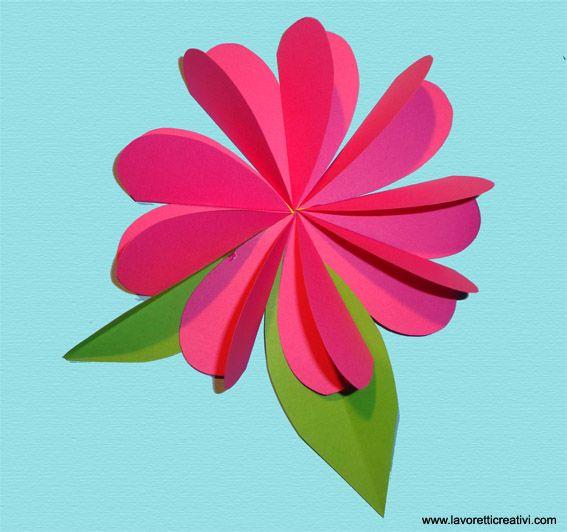 Un Semplice Fiore Facile Da Realizzare Con I Cartoncini Colorati