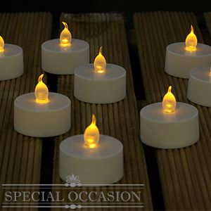 Picture of flameless led flickering tea lights case of 96 buy flameless led flickering tea lights case of at home bargains junglespirit Images