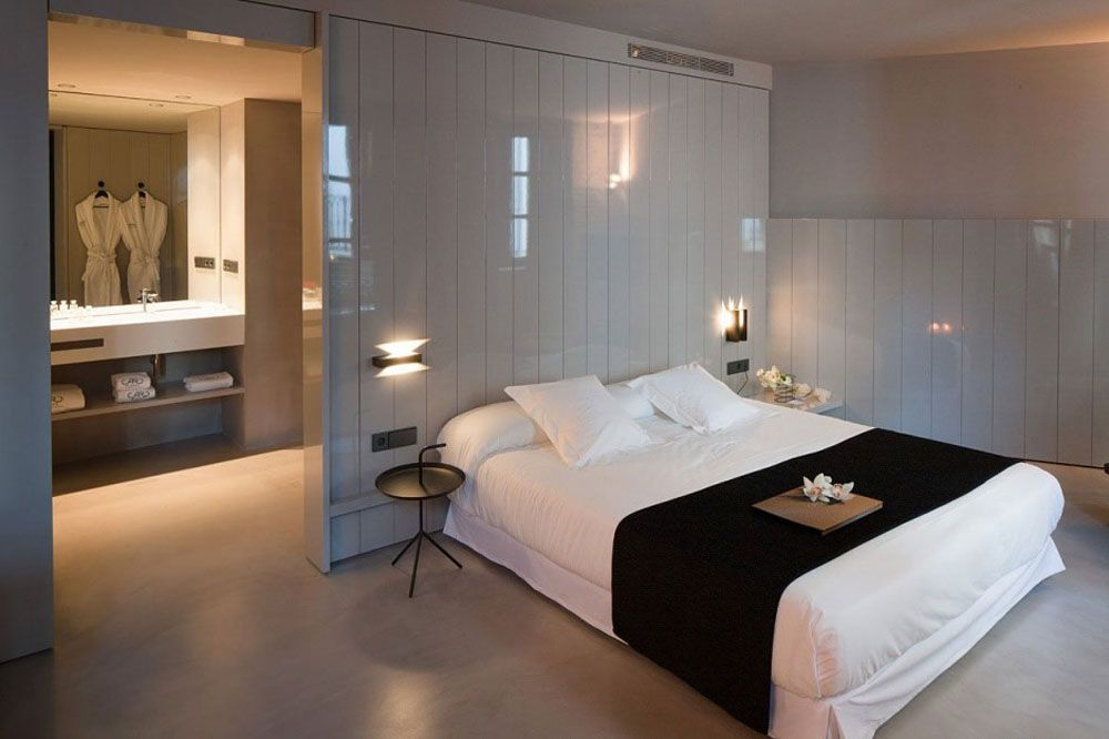 Open plan bedroom bathroom ideas google search open for Design hotel valencia