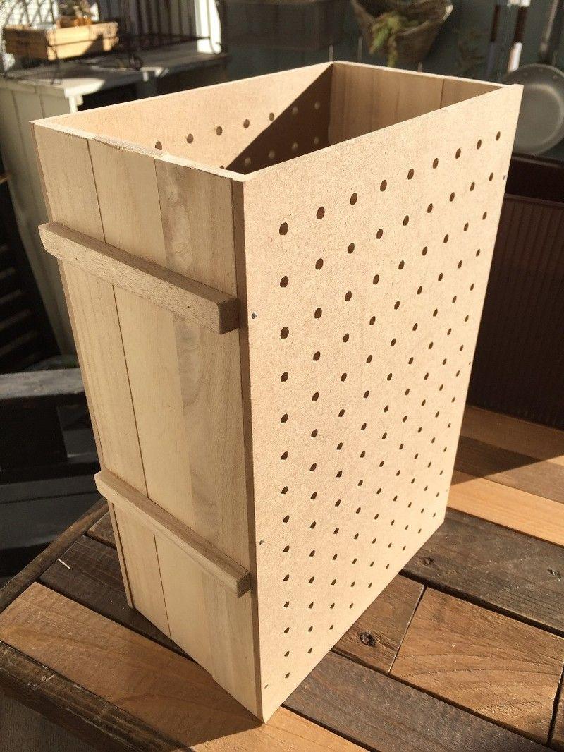 100均すのこ端材でスイング式スリムダストボックス インテリア 収納 収納 アイデア 端材