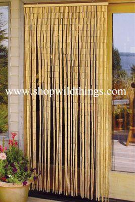 Coming Soon Plain Bamboo Beaded Curtain 90 Strands 35 X 75 78
