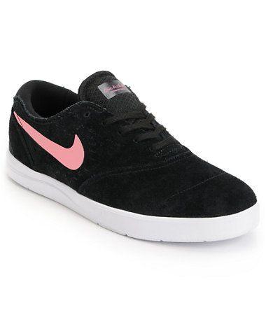 Nike SB Eric Koston 2 Lunarlon Black, Pink & White Skate Shoe at Zumiez :