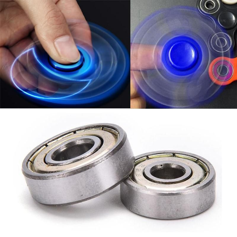 Fid Spinner 608ZZ Ball Bearings ABEC 5 Rated Steel Silver For