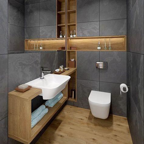 Photo of i do wish for a full size rain shower!  #Modernbathroom #Luxuryhomes #Luxurybath…