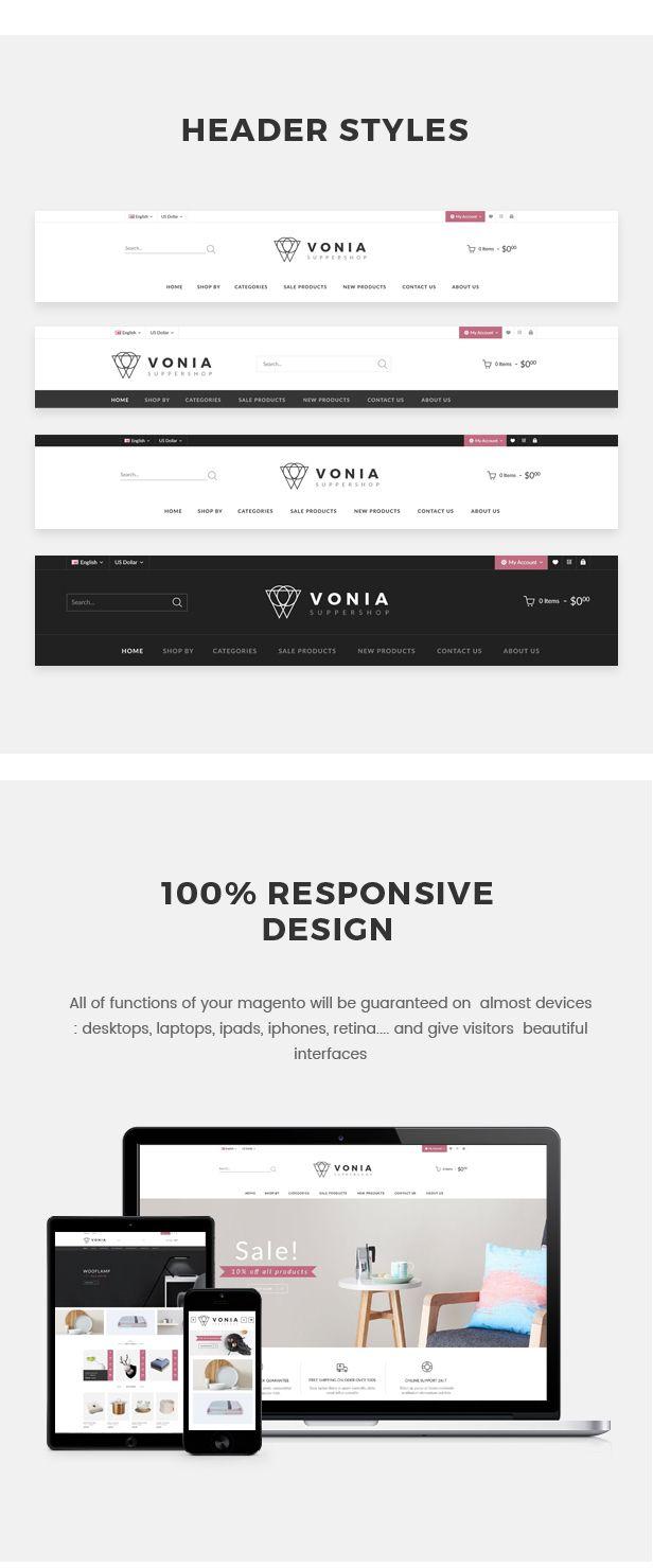 Vonia Multipurpose Responsive Magento 2 Theme