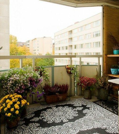 19 Originelle Ideen Für Einen Gemütlichen Balkon - Teppich ... Teppich Fur Terrasse Dekoration