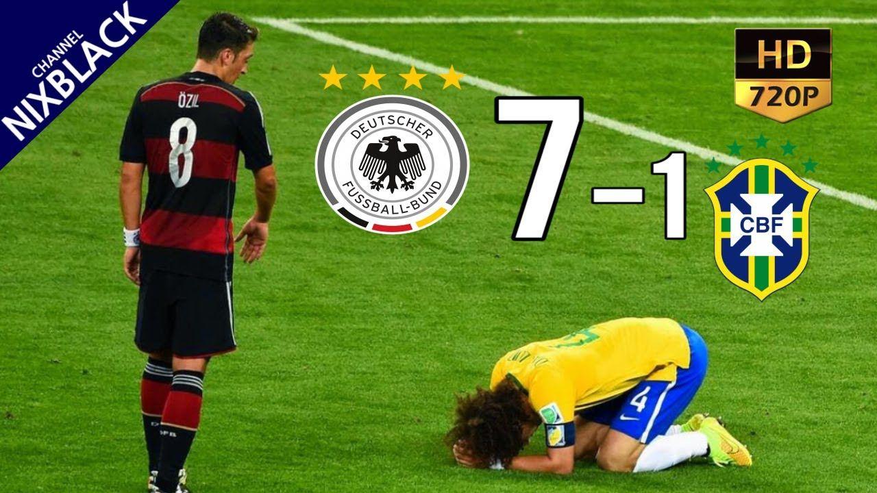 Germany 7-1 Brazil 2014 World Cup Semi-final All Goals
