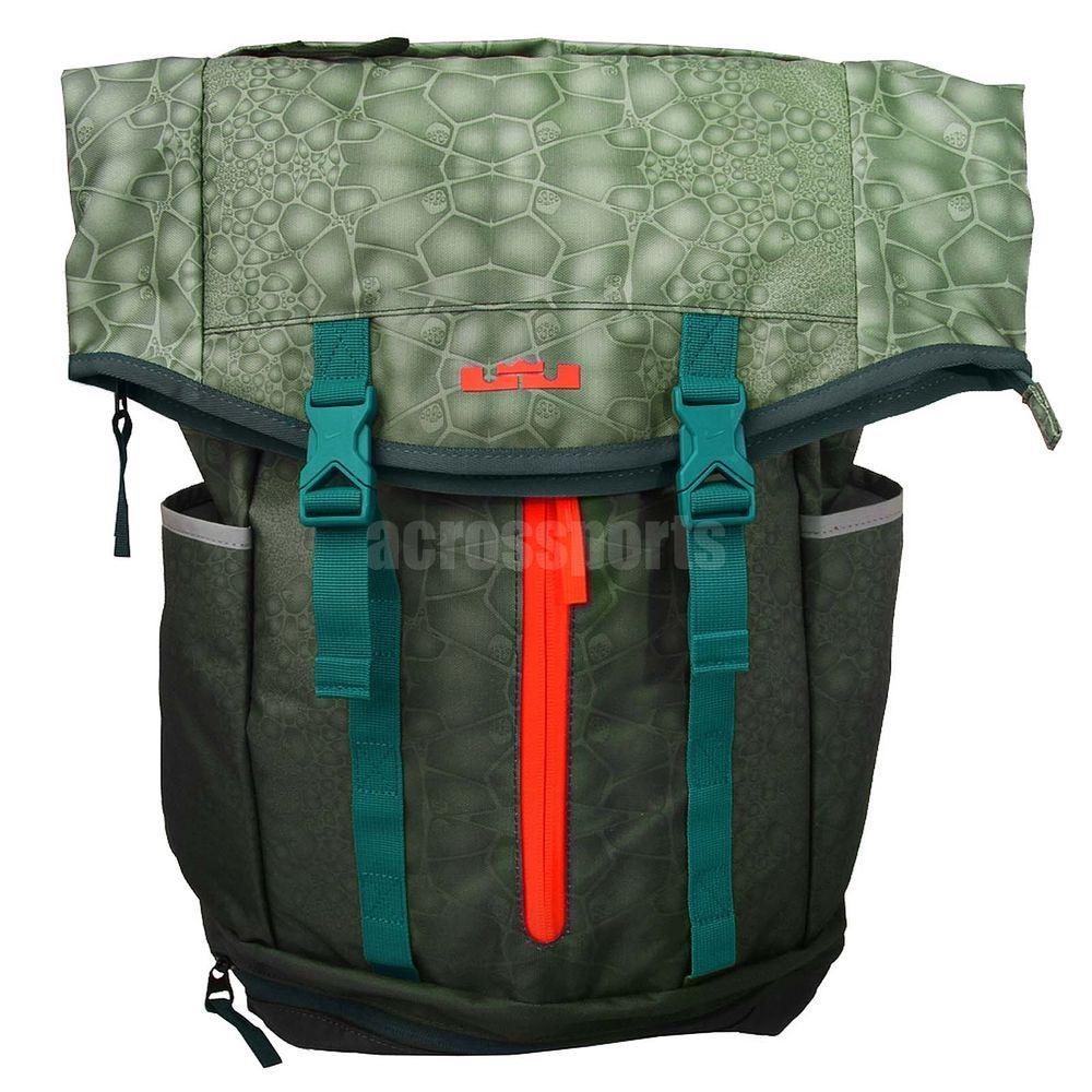 07bb60b6ac77 Nike LeBron Ambassador Lebron James Green Basketball Backpack Bag BP  BA4750-383