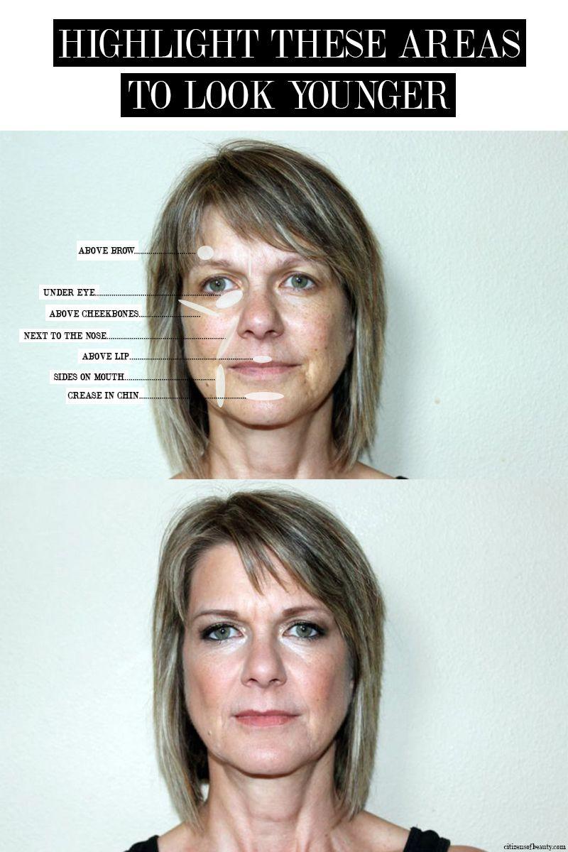 Highlighting Makeup Tricks to Look Younger!  Anti aging makeup