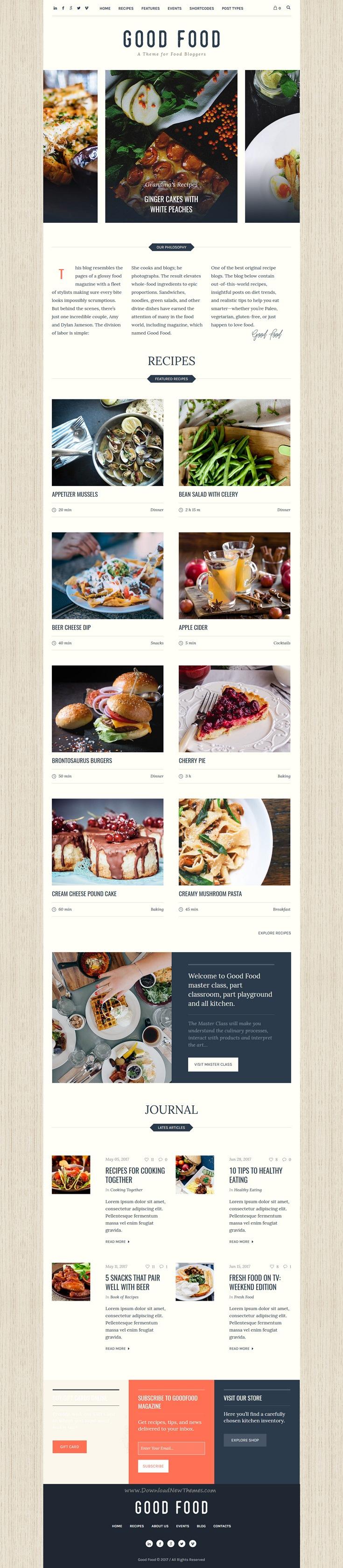 Good food recipe magazine food blogging theme magazine website good food recipe magazine food blogging theme forumfinder Gallery