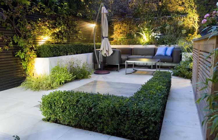iluminacion jardines minimalistas