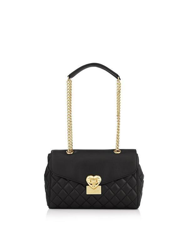 LOVE MOSCHINO Quilted Shoulder Bag - Black | veryexclusive.co.uk ... : moschino quilted shoulder bag - Adamdwight.com