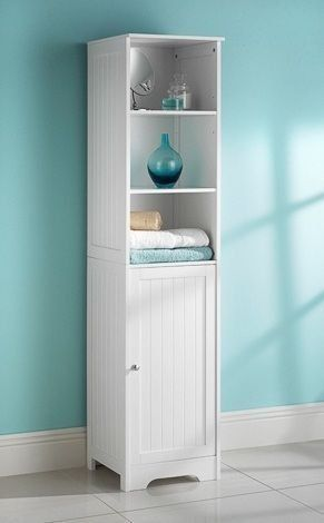 White Bathroom Tall Boy Cabinet Co Uk Diy Tools