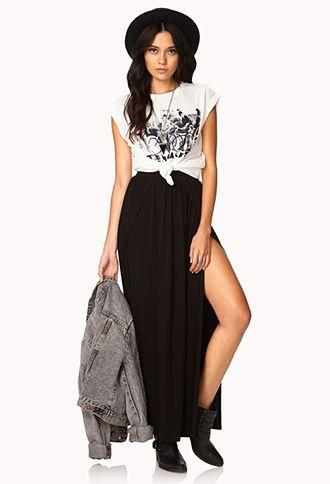 dde689c68d6 Slit Maxi Skirt