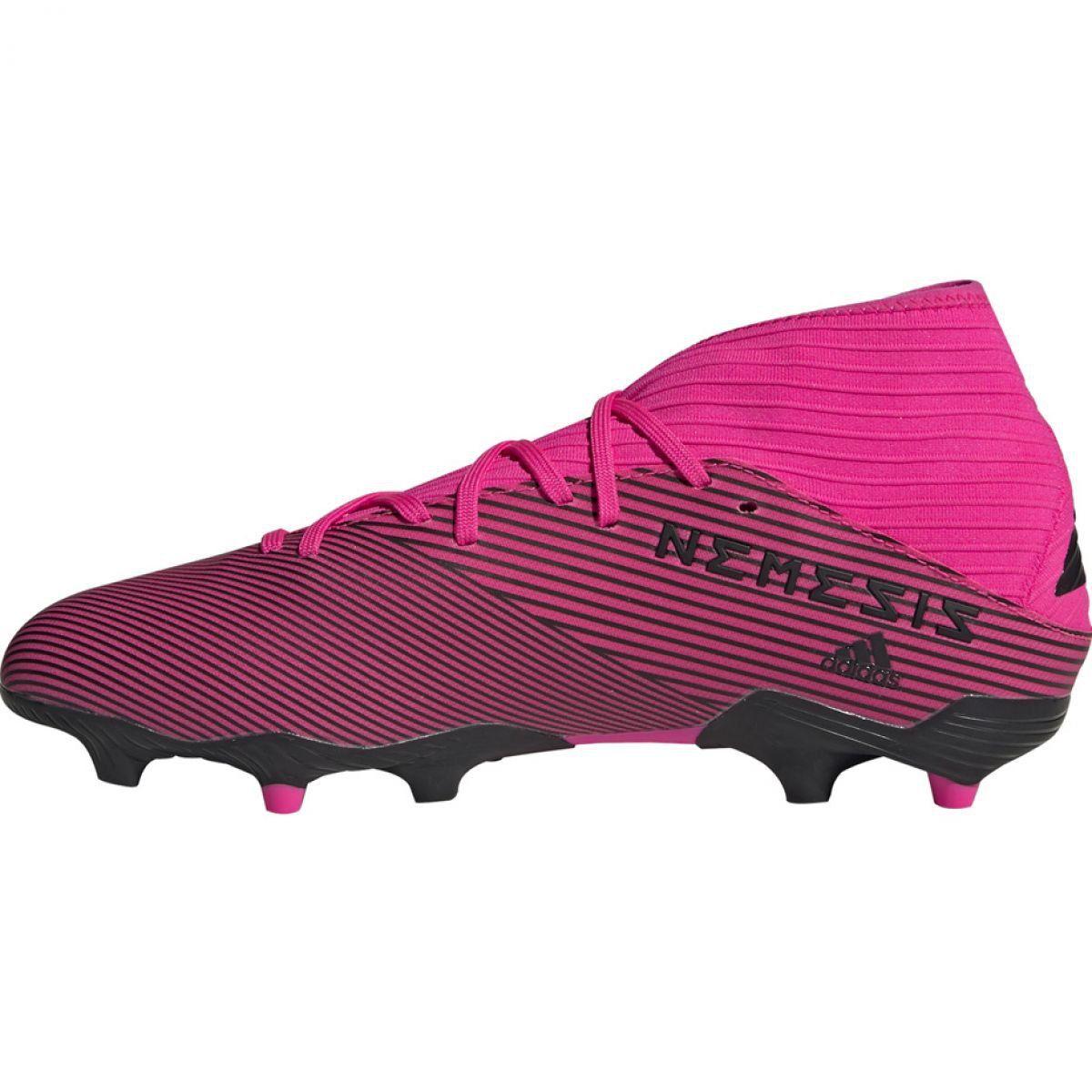 tania wyprzedaż usa najtańszy uznane marki Buty piłkarskie adidas Nemeziz 19.3 Fg M F34388 różowe ...