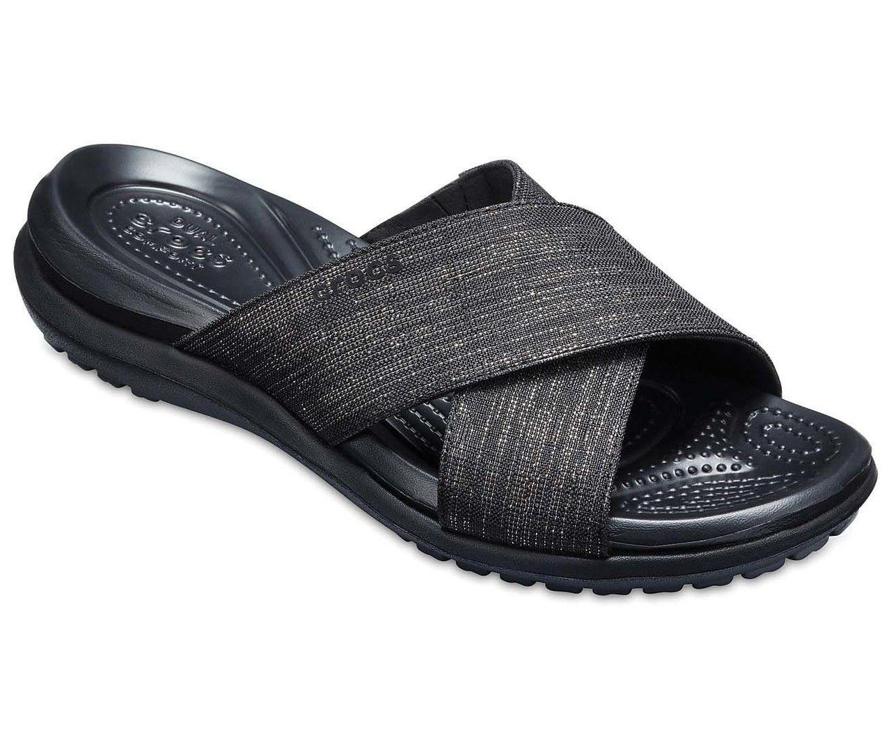 Crocs Women S Capri Shimmer Cross Band Sandal 204908 060 Hiking Shoes Women Slide Sandals Women S Crocs