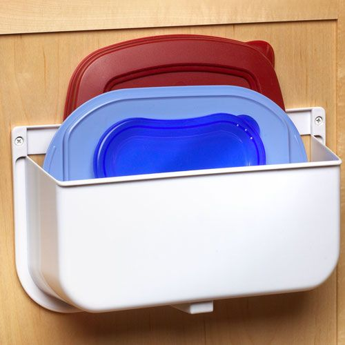 Kitchen plastic lid organizer kitchen kitchen cabinet mounted lid caddy or plastic bag recycler workwithnaturefo