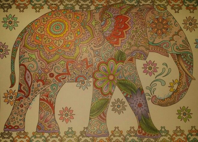 From The Adult Coloring Book Creative Haven Mehndi Designs Choice Of Medium Prismacolor Colored Pencils And Vibrant Colors By Crayola