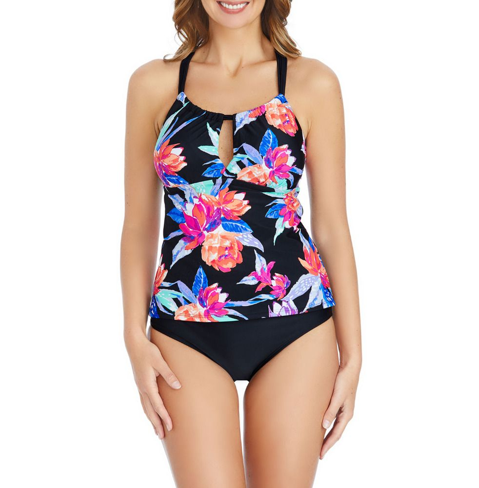 2847cdfd90a Details about St. John s Bay Floral Tankini Swimsuit Top Lily Size ...