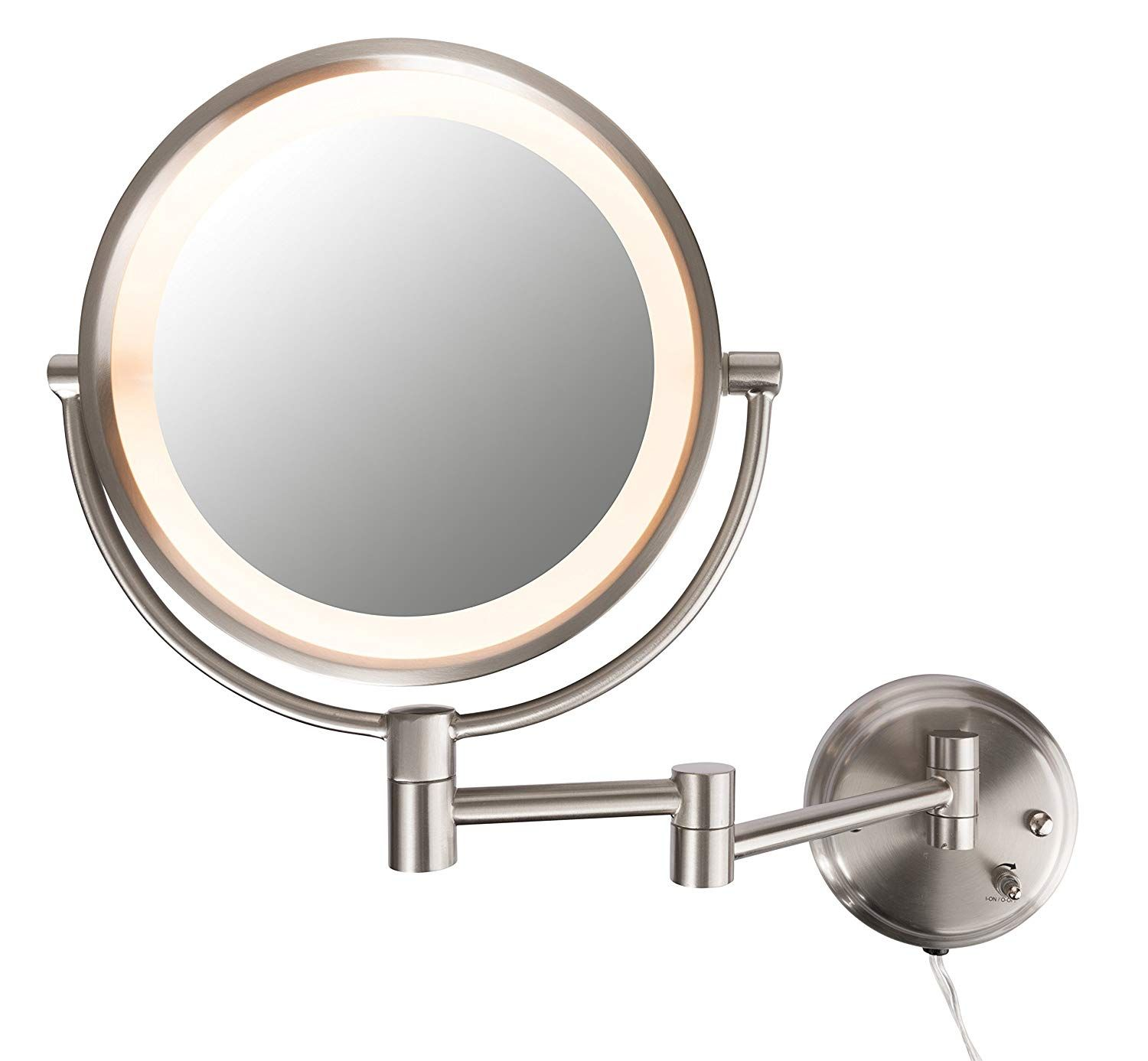 Conair Be6bx Double Sided Lighted 8x Magnification Fog Free Wall Mount Wall Mounted Lighted Makeup Mirror Wall Mounted Makeup Mirror Makeup Mirror With Lights