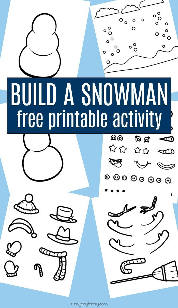 Free Printable Build a Snowman Craft & Activity Set for Kids ...