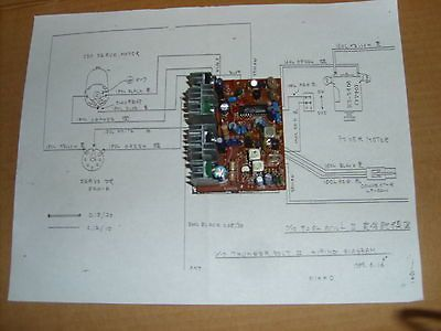 NIKKO RECEIVER CIRCUIT BOARD (RJ9030) WITH WIRING DIAGRAM