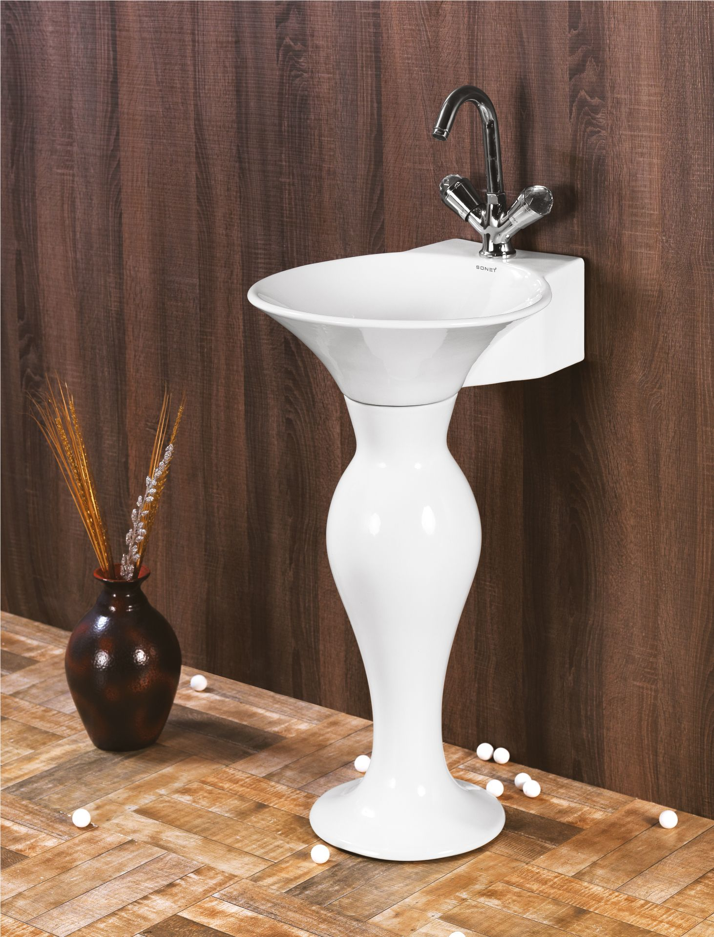This is Dolphin Set Wash Basin from Sonet India. For more ...