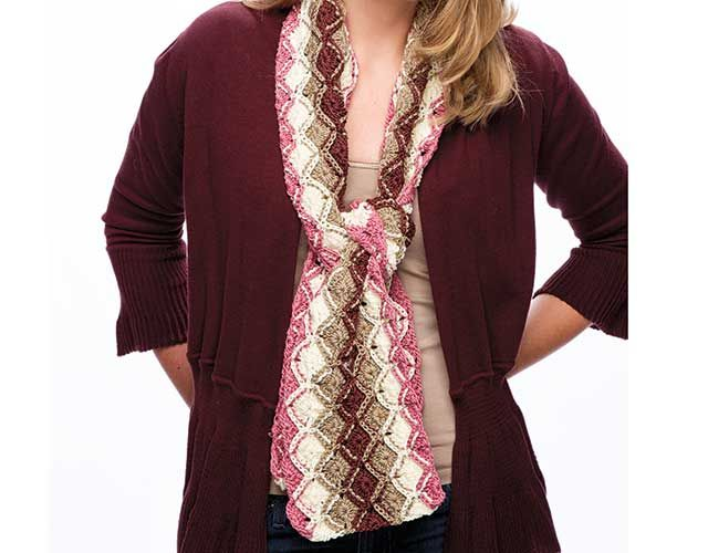 Bavarian Stripes Scarf featured in Learn to Bavarian Crochet with ...