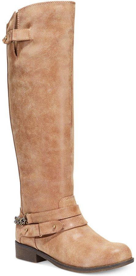 67cdb10971a Over 20 Boots for Girls with Big Calfs - Madden Girl Caanyon Tall Shaft Wide  Calf Riding Boots