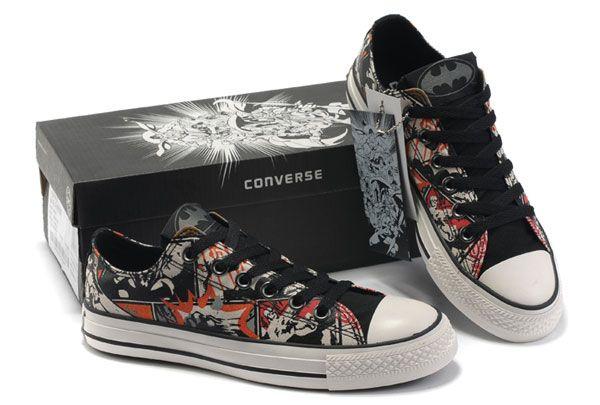 20c8aeffd1aa Black Converse Batman DC Comics Printed Low Top Canvas Shoes  126443  -   56.00