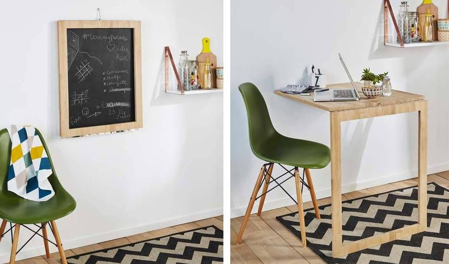 diy cette table d 39 appoint escamotable se transforme en. Black Bedroom Furniture Sets. Home Design Ideas