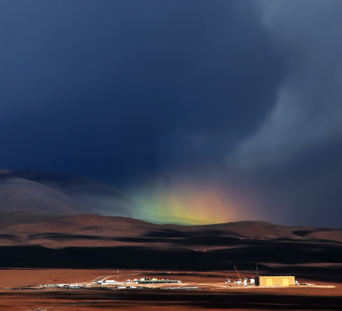 This rare rainbow appeared over one of the European Southern Observatory's facilities which lies close to San Pedro de Atacama, Chile.captured by Armin Silber, ESO