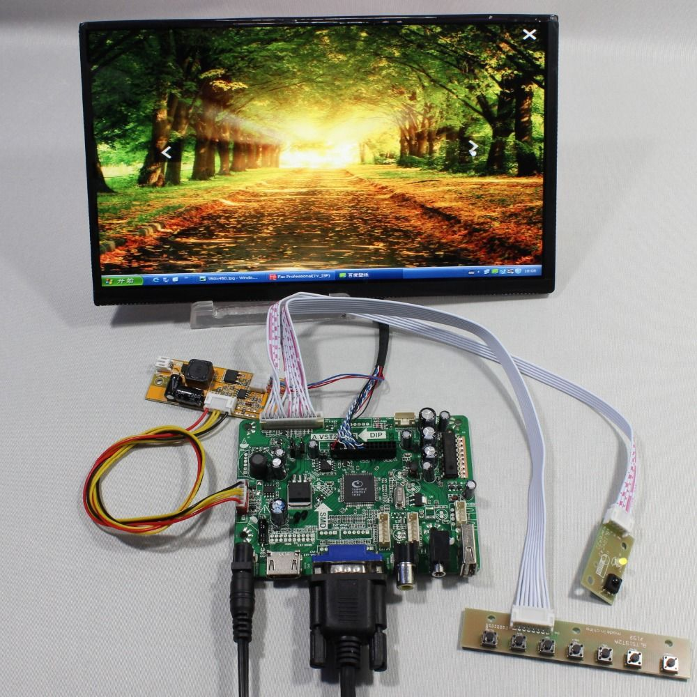 ">> Click to Buy << HDMI+VGA+AV+Audio+USB FPV Control board+10.1"" 1366*768 N101BCG-L21 lcd screen model lcd for Raspberry Pi #Affiliate"
