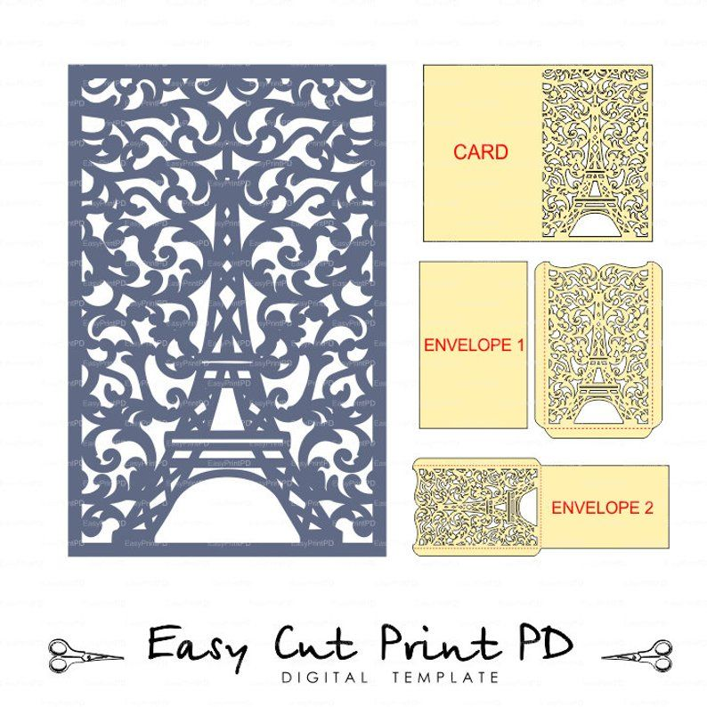 Favor Box Cricut Svg Templates Silhouette Cameo svg ai png pdf Files Ideal for Gifts Instant Download Laser Cut. EIFFEL TOWER BOX