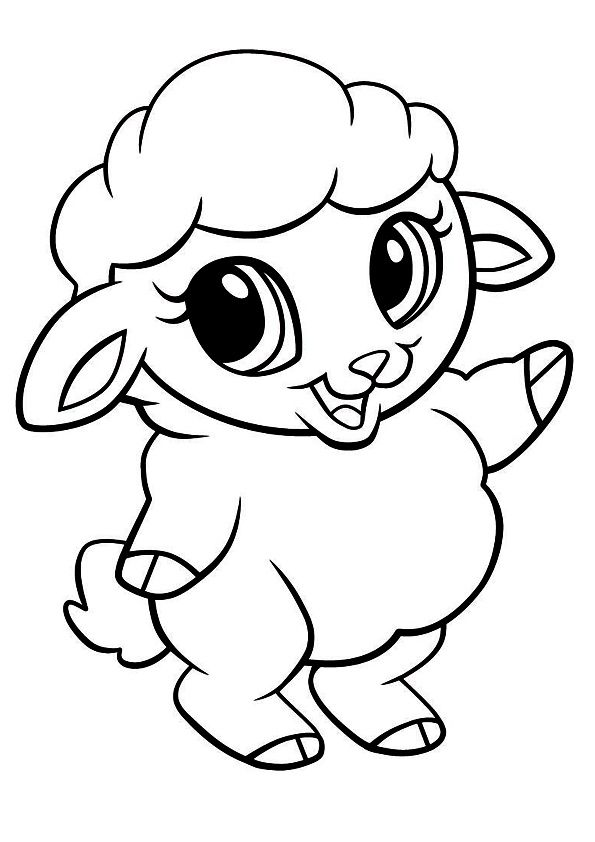 print coloring image | Pinterest | Funny sheep, Easter crafts and ...