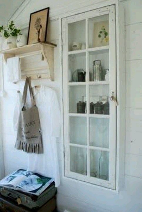 how to turn a frame into a display case | Turn an old window into a cabinet