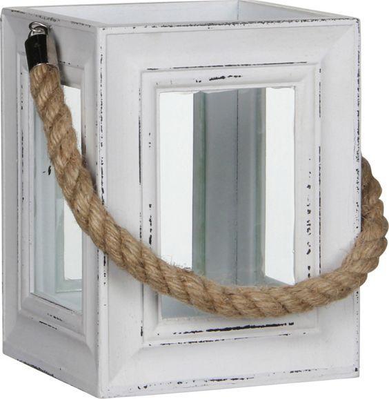 laterne aus holz in wei das stimmungsvolle accessoire f r ihren garten natur pur. Black Bedroom Furniture Sets. Home Design Ideas