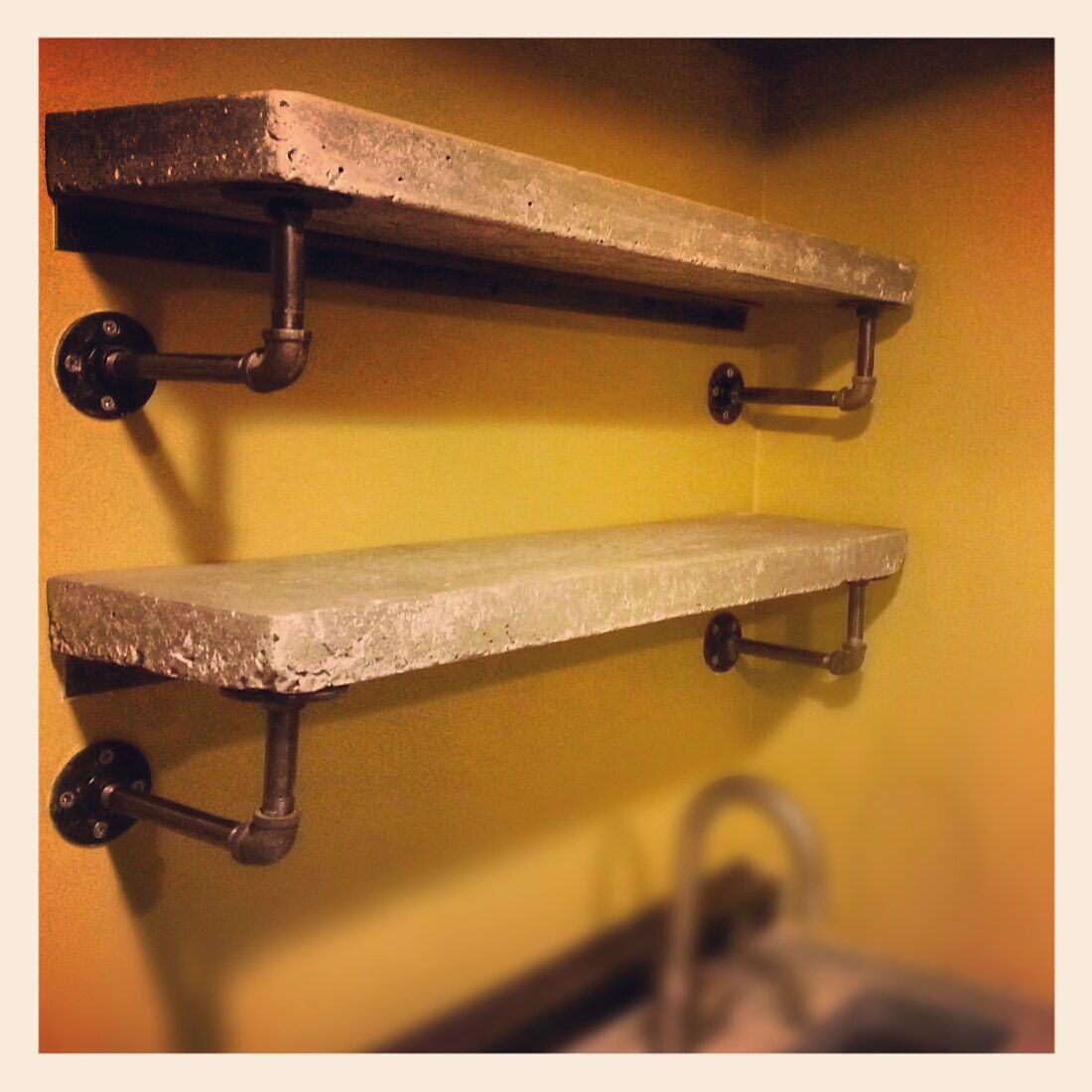 Industrial Pipe Shelves On Pinterest Pipe Shelves