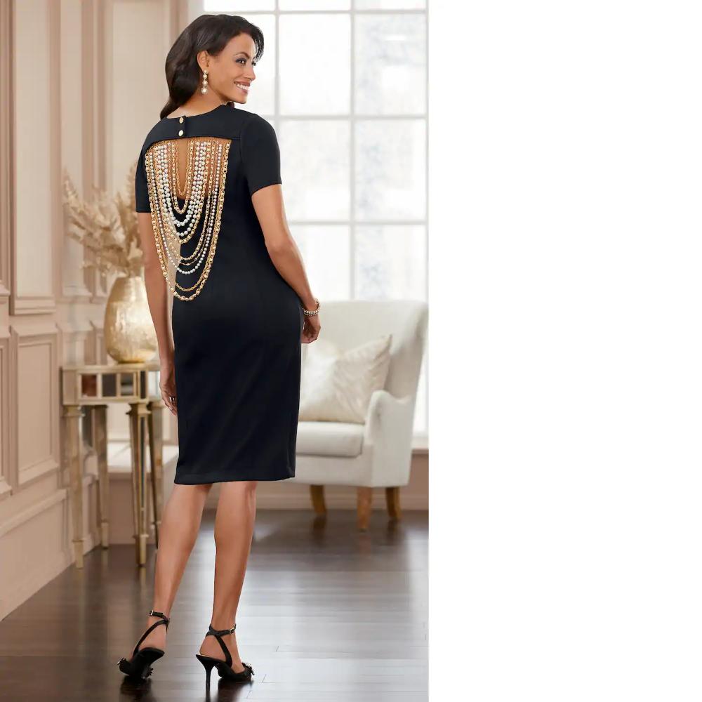 Gizelle Beaded Black Dress Midnight Velvet Black Dress Dresses Set Dress [ 1000 x 1000 Pixel ]