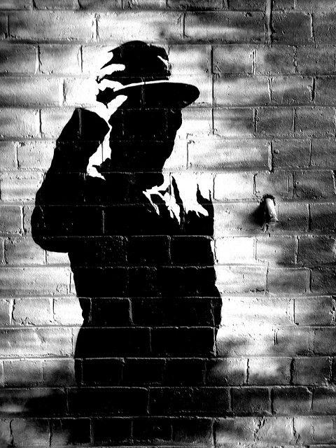 Street Art - Finlay Alley Stencil #1.  Stencil by Seldom - Finlay Alley, Melbourne, Australia 2008.
