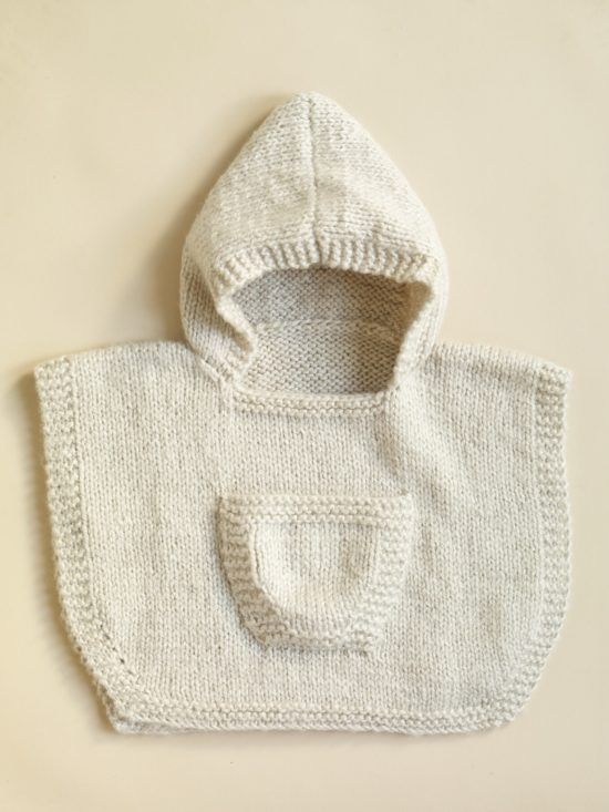 Knitted Hooded Baby Poncho Pattern Free Tutorials   Poncho ...