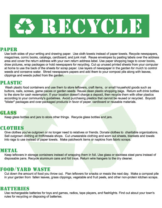 Free Printable Recycle Poster Eco Green Upcycled Eco