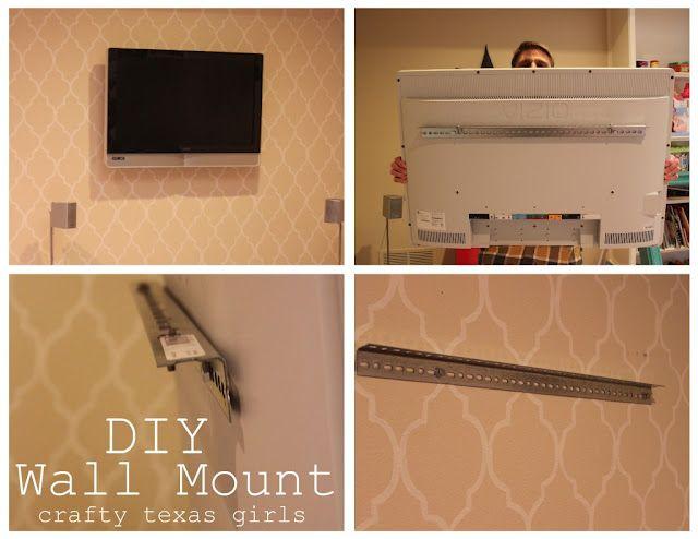 Diy Tv Bracket Diy Tv Wall Mount Family Room Colors Wall